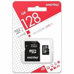 Карты памяти - Карта памяти SMART BUY 128GB MICRO SDXC CLASS 10 UHS-I + SD АДАПТЕР, 0
