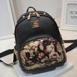 Рюкзаки - Маленький детский рюкзак с розочками, 0