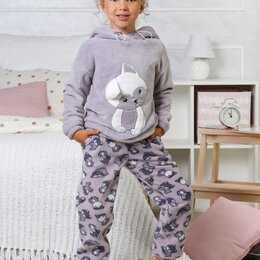 Домашняя одежда - Костюм для девочки Хаски-2, 0