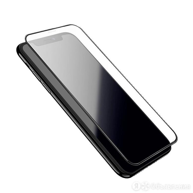 Защитное стекло для iPhone X/XS/11 Pro 11D FULL GLUE (синяя основа) пакет черный по цене 235₽ - Защитные пленки и стекла, фото 0
