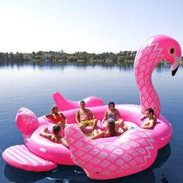 Круги и матрасы  - Огромный надувной фламинго на 6 человек, 0