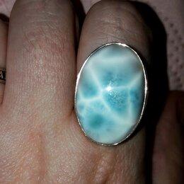 Кольца и перстни - Кольцо с природным доминиканским ларимаром, 0