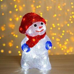 """Головоломки - Luazon Lighting Фигура акрил. """"Снеговик с шарфиком"""" 13х15х25 см, контроллер с..., 0"""