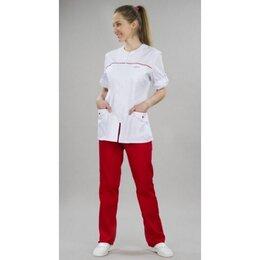 Одежда - Костюм №75.0 женский белый с красным, 0