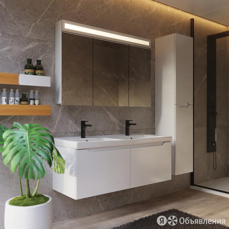 Мебель для ванной Dreja W 125 двойная белый глянец по цене 50013₽ - Полки, шкафчики, этажерки, фото 0
