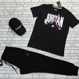 Спортивные костюмы - Комплект спортивный футболка и штаны Jordan черный, 0