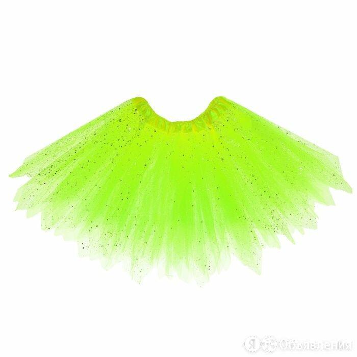 Карнавальная юбка «Блеск», 3-х слойная, 4-6 лет, цвет салатовый по цене 964₽ - Юбки, фото 0