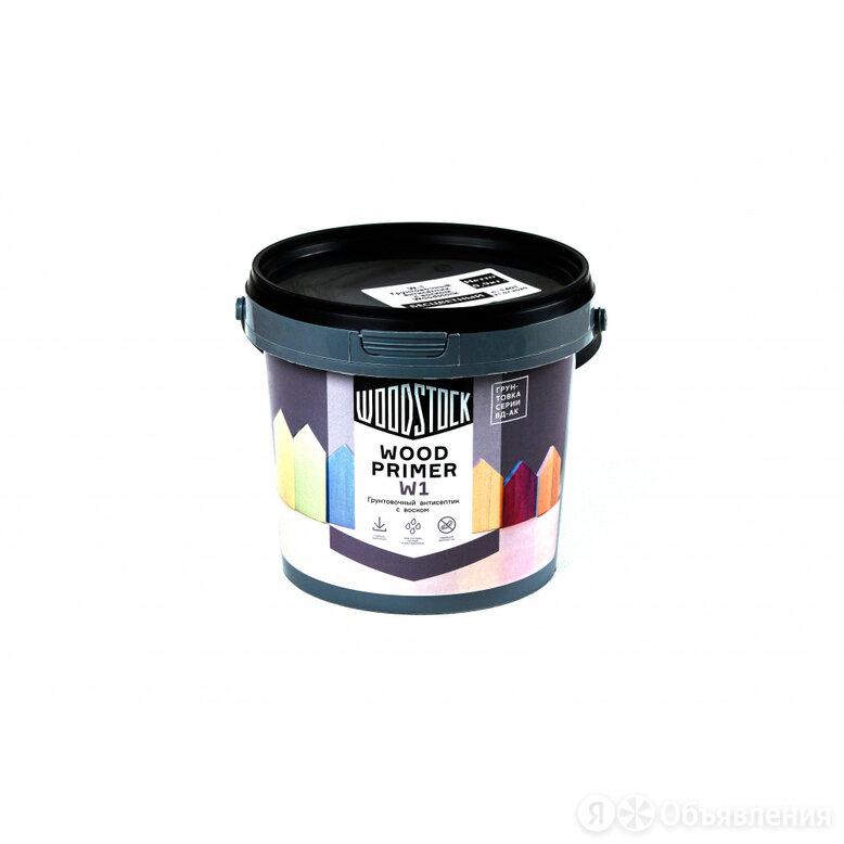 Грунтовочный антисептик Woodstock W-1 ВД-АК по цене 281₽ - Строительные смеси и сыпучие материалы, фото 0