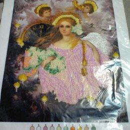 """Рукоделие, поделки и сопутствующие товары - Готовая вышивка бисером """"рождественские ангелы"""", 0"""