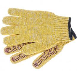 Средства индивидуальной защиты - Перчатки трикотажные усиленные, гелевое ПВХ-покрытие, 7 класс, желтые Ро..., 0