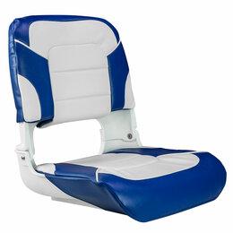 Походная мебель - Кресло мягкое складное All Weather, обивка винил, цвет синий/белый, Marine Ro..., 0