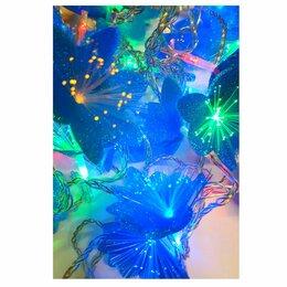 Новогодний декор и аксессуары - Гирлянда электрическая «Цветы» 5м, 8 режимов, 0