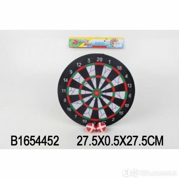 B1654452 Дартс с липучкой 27,5см, 2 шарика в пак. в кор.2*72шт по цене 215₽ - Санки и аксессуары, фото 0
