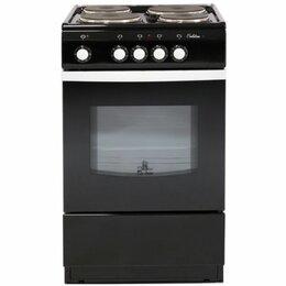 Плиты и варочные панели - Электрическая плита De Luxe 5004.12э черный, 0