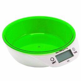 Прочая техника - Весы кухонные электронные(зеленые), макс. вес 5кг, цена деления 1гр. питание CR2, 0
