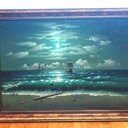 Картины, постеры, гобелены, панно - Картина маслом 2000 г морской пейзаж в стиле Айвазовского, 0