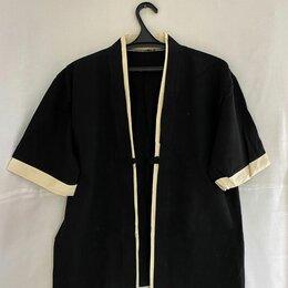 Рубашки - Кимоно чёрного цвета с короткими рукавами, 0
