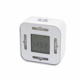 Замки и комплектующие - Будильник IR-609 8,5 * 4,5 * 8,5 см (термометр, таймер, календарь) квадрат, 0