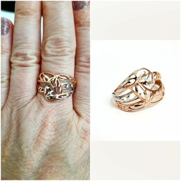 Кольца и перстни - Золотое кольцо чалма 20 размера, 0