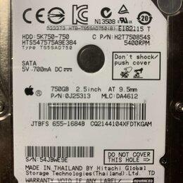 Жёсткие диски и SSD - Жесткий диск 750gb 2.5 (под восстановление, на запчасти), 0