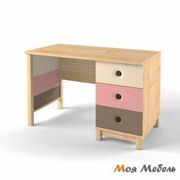 Компьютерные и письменные столы - Стол с тумбой универсальный розовый «Робин Wood», 0