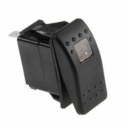 Электроустановочные изделия - Переключатель двухпозиционный ON-OFF 12В/20А 3Р с подсветкой, 0