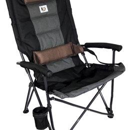 Походная мебель - Кресло складное с подлокотниками/подстаканником p.58/64*37*47/105, вес 5,2кг(..., 0