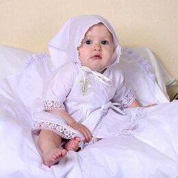 Крестильная одежда - Крестильный набор для девочки Папитто, вышивка серебро, размер 20, рост 56-62 см, 0