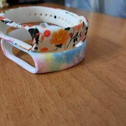 Ремешки для умных часов - Ремешок с цветочками mi band 3,4, 0