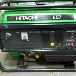 Электрогенераторы и станции - Бензогенератор .hitachi e57 5.7 квт, 0
