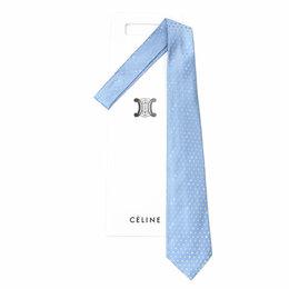 Платья - Светло-синий галстук в мелкий горошек Celine 63656, 0
