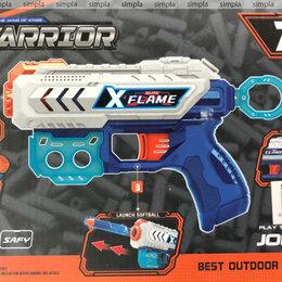 Игровые наборы и фигурки - Пистолет с мягкими пулями WARRIOR 6-шт пуль, 0