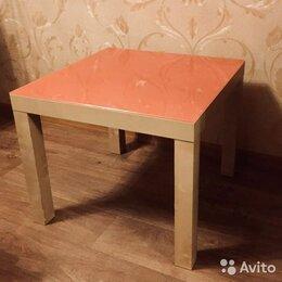 Столы и столики - Журнальный столик со стеклянным покрытием, 0