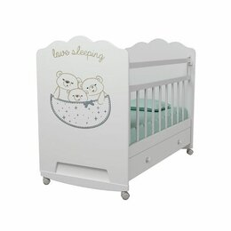 Кроватки - Детская кроватка ВДК Love Sleeping колесо…, 0