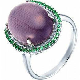 Комплекты - Element47 кольцо серебро вес 5,17 вставка фианит, кошачий глаз арт. 743902, 0