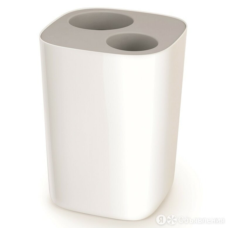 Контейнер мусорный Split™ для ванной комнаты, бело-серый по цене 2370₽ - Дизайн, изготовление и реставрация товаров, фото 0