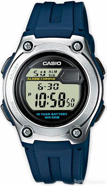 Часы наручные Casio W-211-2A по цене 2140₽ - Наручные часы, фото 0