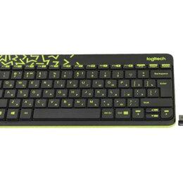 Комплекты клавиатур и мышей - Продаю комплект беспроводной клавиатуры+мышь Logitech MK240 Nano Black, 0