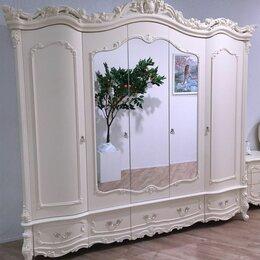 "Шкафы, стенки, гарнитуры - Шкаф с зеркалом 5 дверей ""Элиза Люкс"" крем, 0"