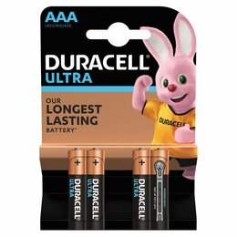 Батарейки - Батарейки Duracell LR03-4BL Ultra 4шт ААА, 0