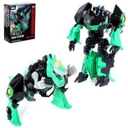 Роботы и трансформеры - Робот «Динобот», трансформируется, с металлическими элементами, 0