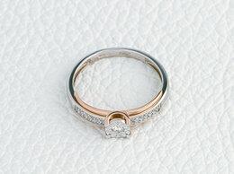 Кольца и перстни - Кольцо с 29 бриллиантами из белого золота, 0
