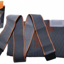 Устройства, приборы и аксессуары для здоровья - Суппорт колена эластичный с компрессионными лямками SIBOTE ST-960 Серо-оранжевый, 0