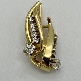 Серьги - Серьги с бриллиантами 0,58 карата, 0
