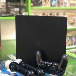 Игровые приставки - PlayStation 4 Slim c PlayStation Move, 0