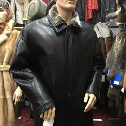 Куртки - Куртка мужская кожа как настоящая, воротник отстегивается р.52-54 /10689/, 0