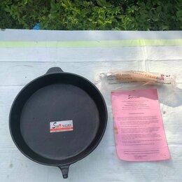 Сковороды и сотейники - Чугунная сковорода и кастрюля Shengri, 0