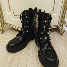 Ботинки - Ботинки с шипами стразами Италия 41р, 0
