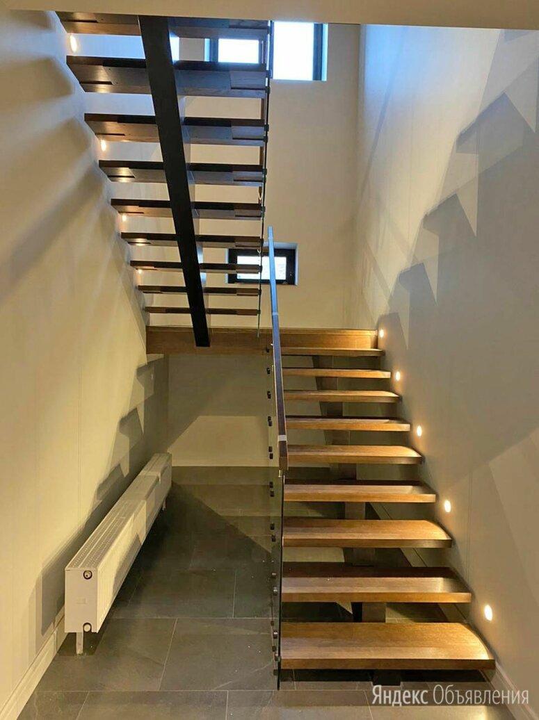 Лестницы на косоуре и перила из стекла по цене 295000₽ - Лестницы и элементы лестниц, фото 0
