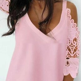 Блузки и кофточки - Красивые женские блузки с кружевом р-ры 46-56, 0